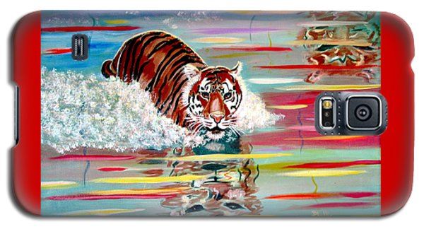 Galaxy S5 Case featuring the painting Tigers Crossing by Phyllis Kaltenbach