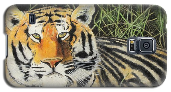 Galaxy S5 Case featuring the painting Tigress by Jeanne Fischer