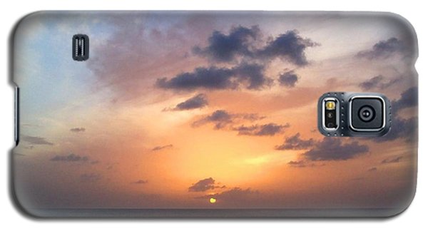 Tiki Beach Caribbean Sunset Galaxy S5 Case by Amy McDaniel