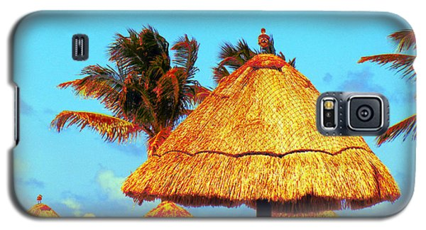 Galaxy S5 Case featuring the photograph Tiki Huts by J Anthony