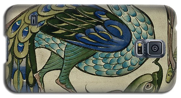 Tile Design Of Heron And Fish Galaxy S5 Case by Walter Crane
