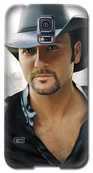 Galaxy S5 Case featuring the painting Tim Mcgraw Artwork by Sheraz A