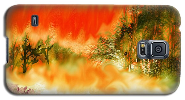 Galaxy S5 Case featuring the mixed media Timber Blaze by Seth Weaver