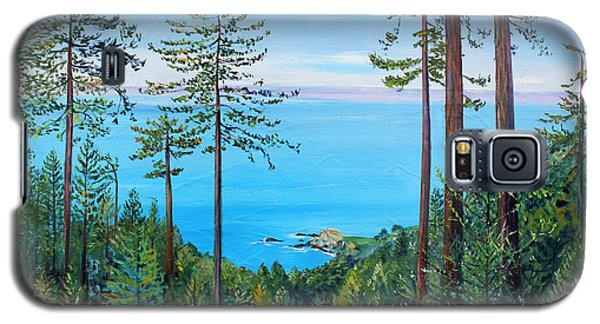 Galaxy S5 Case featuring the painting Timber Cove On A Still Summer Day by Asha Carolyn Young