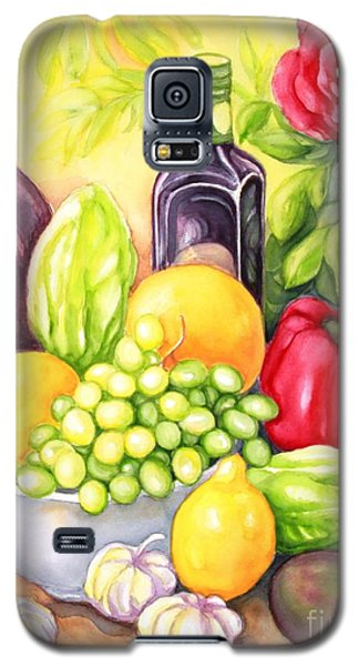 Galaxy S5 Case featuring the painting Time For Fruits And Vegetables by Inese Poga