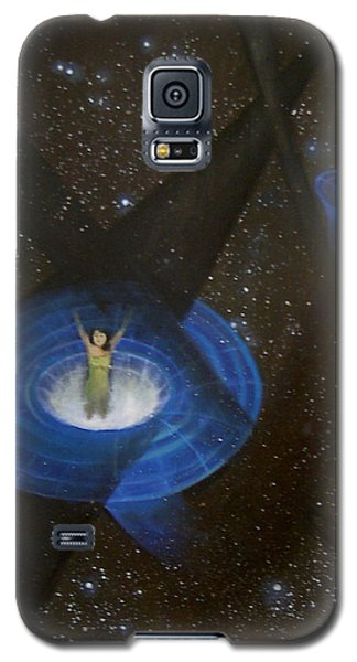 Galaxy S5 Case featuring the painting Time Travel by Min Zou