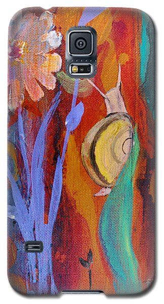 Galaxy S5 Case featuring the painting Time Traveler by Robin Maria Pedrero