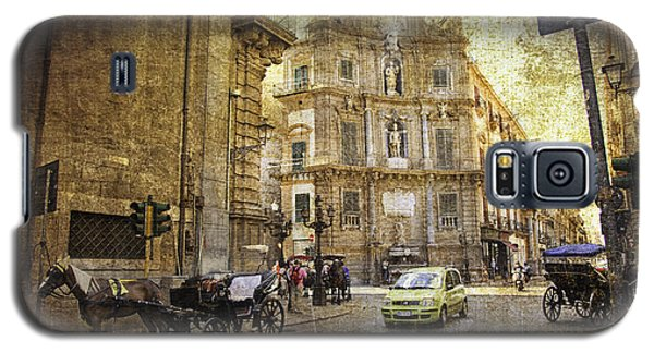Time Traveling In Palermo - Sicily Galaxy S5 Case by Madeline Ellis