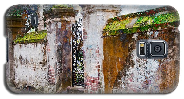 Galaxy S5 Case featuring the photograph Brick Wall Charleston South Carolina by Vizual Studio