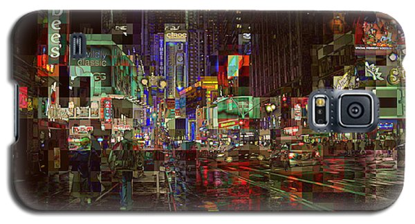Times Square At Night - After The Rain Galaxy S5 Case by Miriam Danar