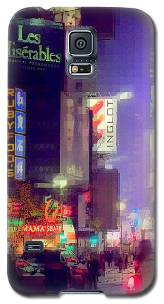 Times Square At Night - Columns Of Light Galaxy S5 Case by Miriam Danar