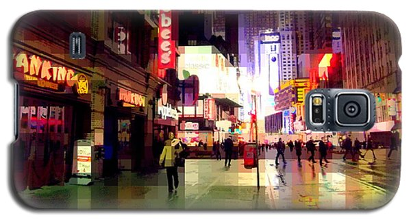Times Square New York - Nanking Restaurant Galaxy S5 Case by Miriam Danar