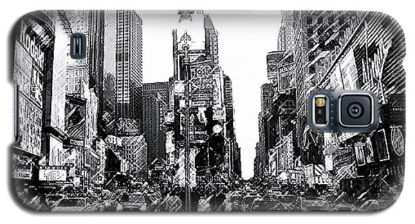 Times Square   New York City Galaxy S5 Case by Iconic Images Art Gallery David Pucciarelli