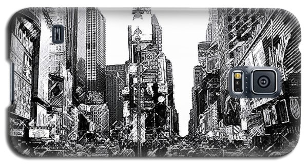 Times Square   New York City Galaxy S5 Case