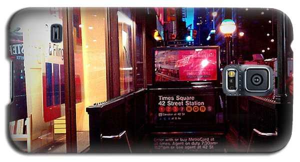 Galaxy S5 Case featuring the photograph Times Square Station by James Aiken