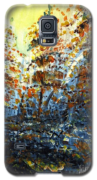 Galaxy S5 Case featuring the painting Tim's Autumn Trees by Holly Carmichael