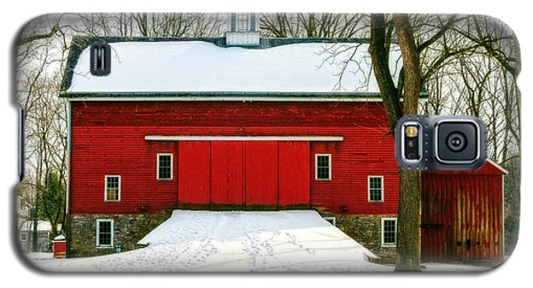 Tinicum Barn In Winter II Galaxy S5 Case