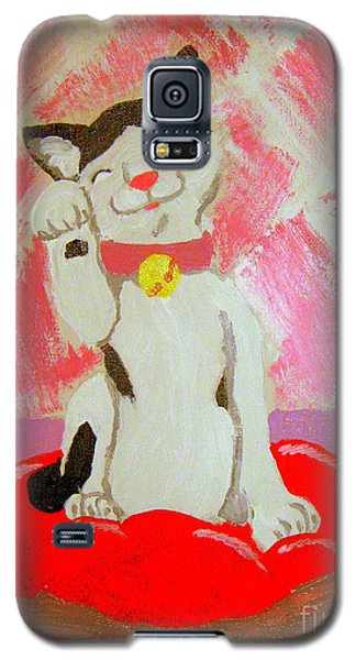 Galaxy S5 Case featuring the painting Tinkadinkadoo by Wendy Coulson