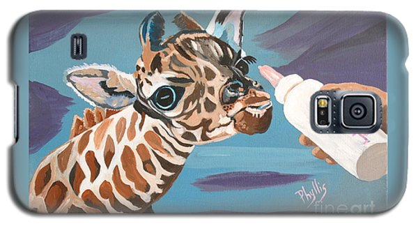 Tiny Baby Giraffe With Bottle Galaxy S5 Case