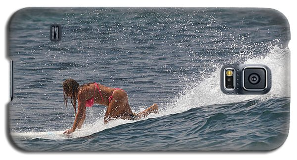 Tired Woman On A Surfboard Galaxy S5 Case