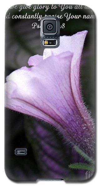 To God Give The Glory Galaxy S5 Case by Sara  Raber