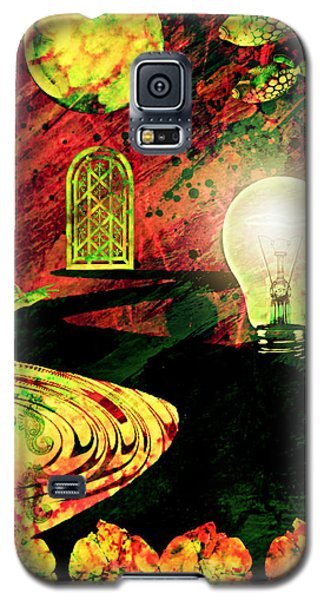Galaxy S5 Case featuring the mixed media To The Light by Ally  White