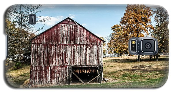 Galaxy S5 Case featuring the photograph Tobacco Barn Ready For Smoking by Debbie Green