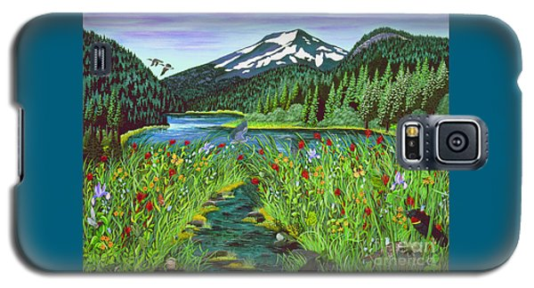Todd Lake Mt. Bachelor Galaxy S5 Case by Jennifer Lake
