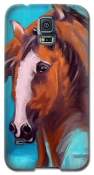 Galaxy S5 Case featuring the painting Together 1 by Go Van Kampen