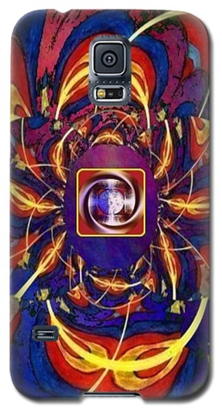 Galaxy S5 Case featuring the digital art Together As One - A Healing In Blue by Ray Tapajna