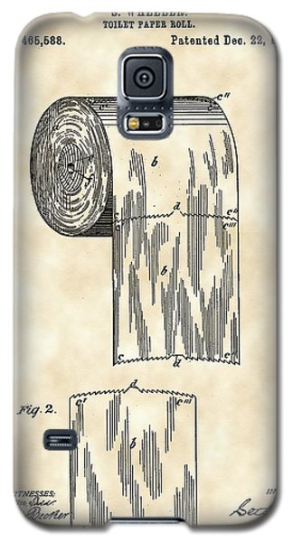 Toilet Paper Roll Patent 1891 - Vintage Galaxy S5 Case by Stephen Younts