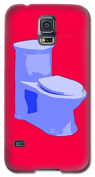 Toilette In Blue Galaxy S5 Case
