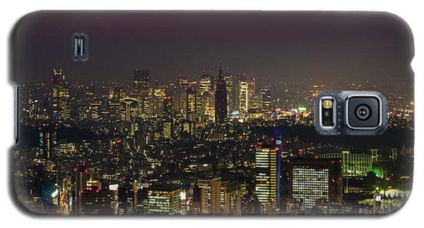 Tokyo City Skyline Galaxy S5 Case by Fototrav Print