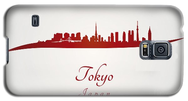 Tokyo Skyline In Red Galaxy S5 Case by Pablo Romero