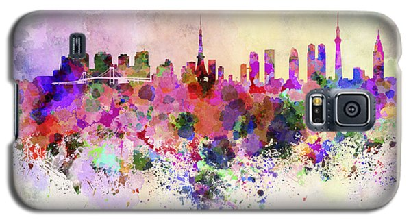 Tokyo Skyline In Watercolor Background Galaxy S5 Case