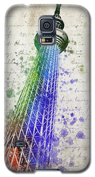 Tokyo Skytree Galaxy S5 Case by Aged Pixel