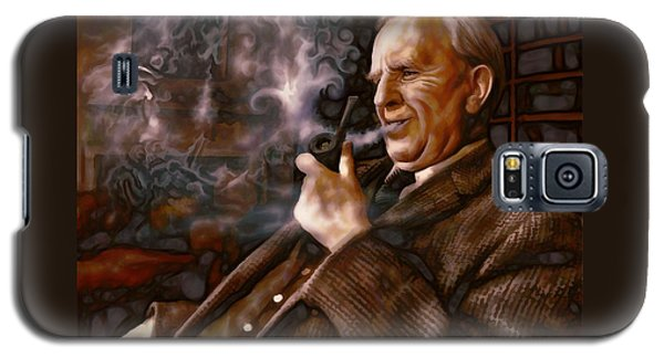 Galaxy S5 Case featuring the painting Tolkien Daydreams by Dave Luebbert