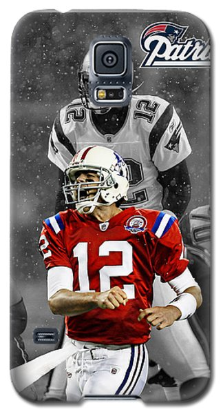 Tom Brady Patriots Galaxy S5 Case by Joe Hamilton
