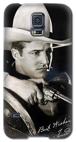 Tom Mix Portrait Melbourne Spurr Hollywood California C.1925-2013 Galaxy S5 Case by David Lee Guss