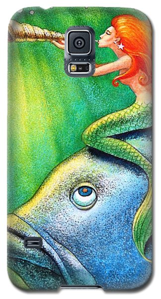 Toot Your Own Seashell Mermaid Galaxy S5 Case by Sue Halstenberg