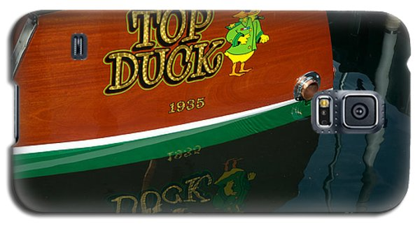 Galaxy S5 Case featuring the photograph Top Duck At Tahoe's Wooden Boat Festival  by Vinnie Oakes