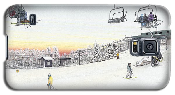 Galaxy S5 Case featuring the painting Top Of The Mountain At Seven Springs by Albert Puskaric