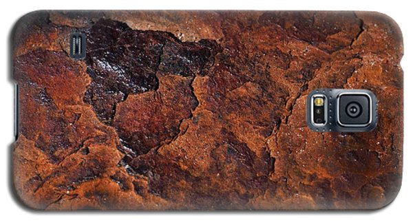 Topography Of Rust Galaxy S5 Case by Rona Black