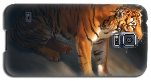 Galaxy S5 Case featuring the digital art Torch Tiger 1 by Aaron Blaise