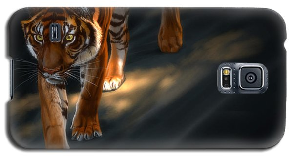 Galaxy S5 Case featuring the digital art Torch Tiger 2 by Aaron Blaise