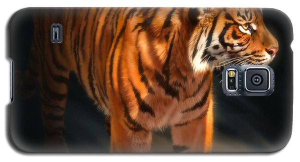 Galaxy S5 Case featuring the digital art Torch Tiger 4 by Aaron Blaise