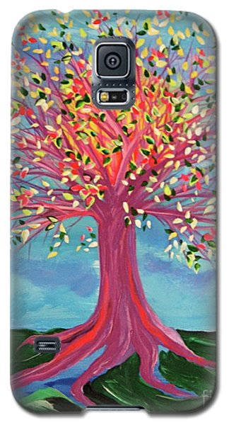 Galaxy S5 Case featuring the painting Tori's Tree By Jrr by First Star Art