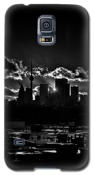 Galaxy S5 Case featuring the photograph Toronto Canada Skyline At Sunset From The Pape St Bridge by Brian Carson