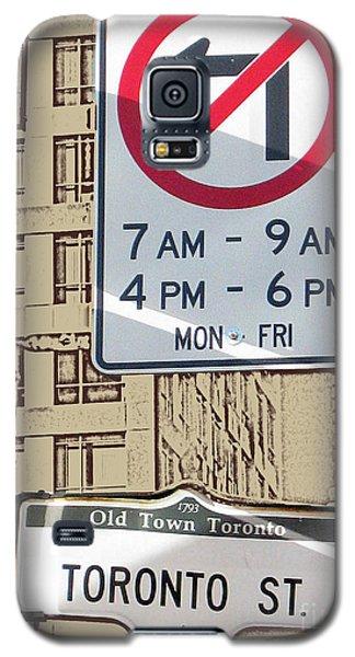 Toronto Street Sign Galaxy S5 Case by Nina Silver