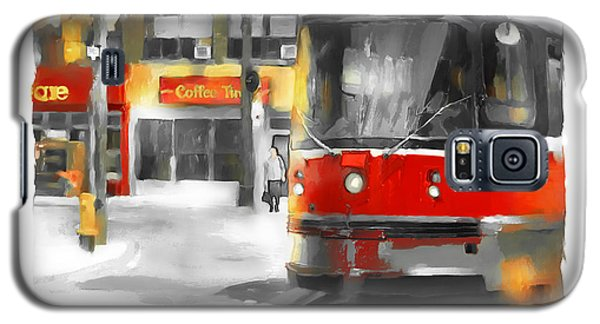 Galaxy S5 Case featuring the painting Toronto Streets 1 by Bob Salo